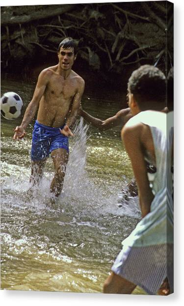 Water Soccer Canvas Print