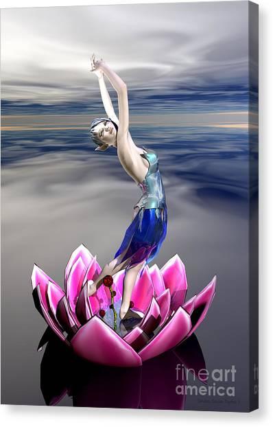 Water Sprite Canvas Print by Sandra Bauser Digital Art