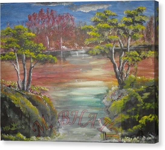 Water Stream Canvas Print by M Bhatt