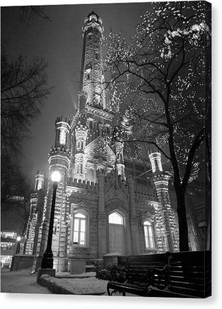 Chicago Fire Canvas Print - Water Tower Chicago Il by Panoramic Images