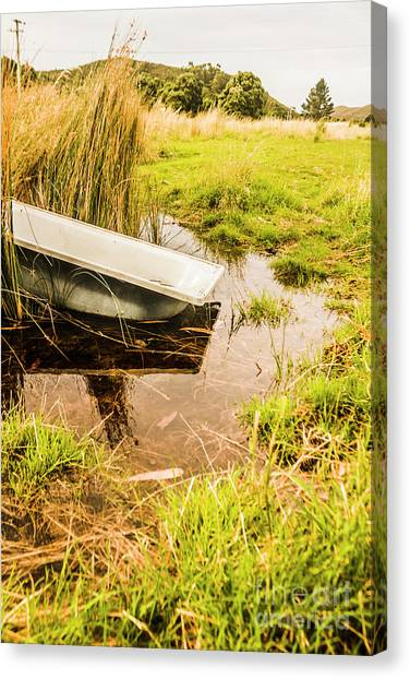 Farming Canvas Print - Water Troughs And Outback Farmland by Jorgo Photography - Wall Art Gallery