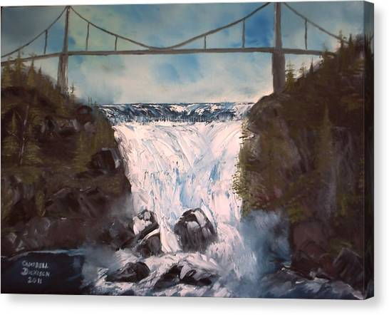 Water Under The Bridge Canvas Print by Campbell Dickison