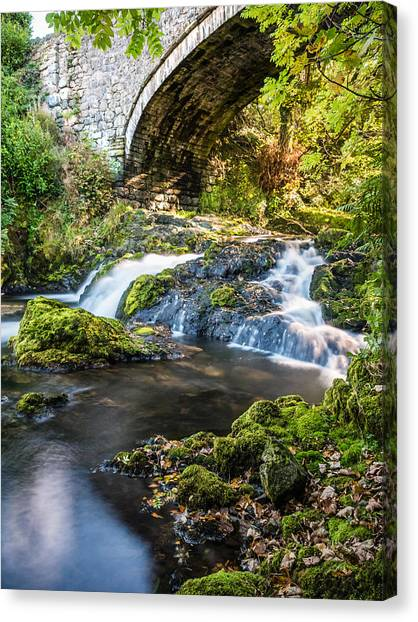 Canvas Print featuring the photograph Water Under The Bridge by Nick Bywater