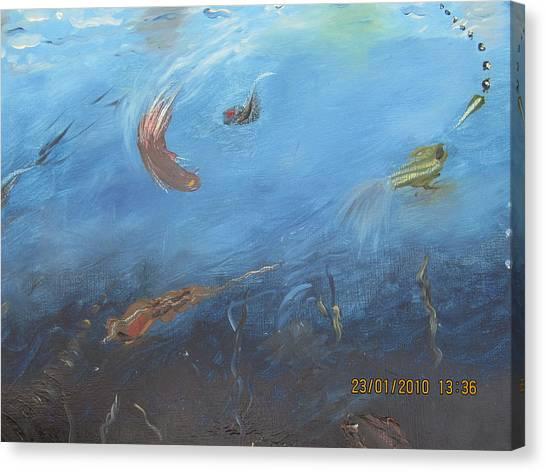 Water World Canvas Print by Anusha Garg