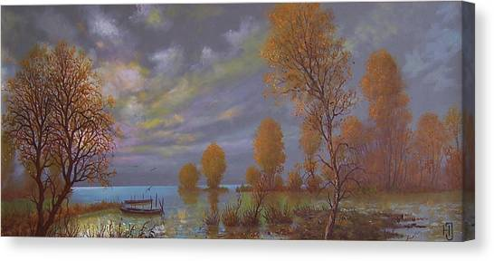 Water World Of Light Canvas Print by Jozsef Horvath