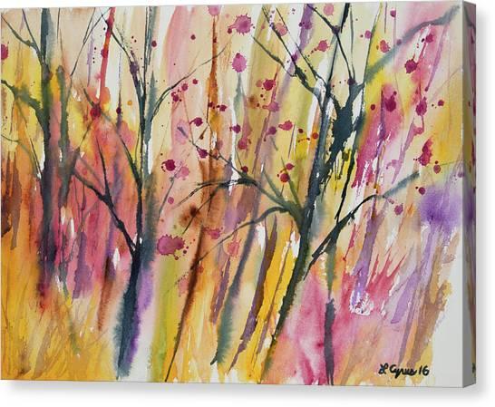 Watercolor - Autumn Forest Impression Canvas Print