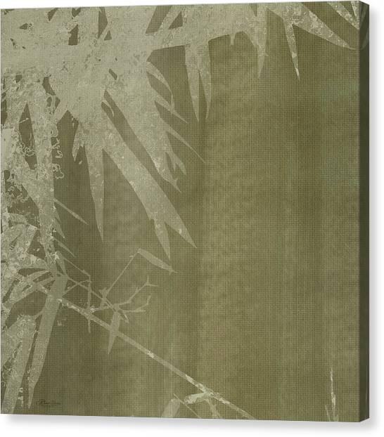 Watercolor Bamboo 02 Canvas Print