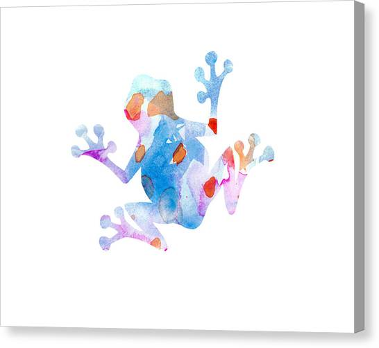 Frogs Canvas Print - Watercolor Frog by Nursery Art
