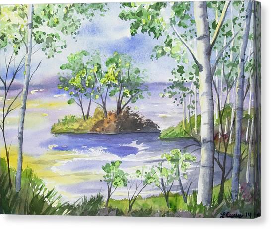 Watercolor - Minnesota North Shore Landscape Canvas Print