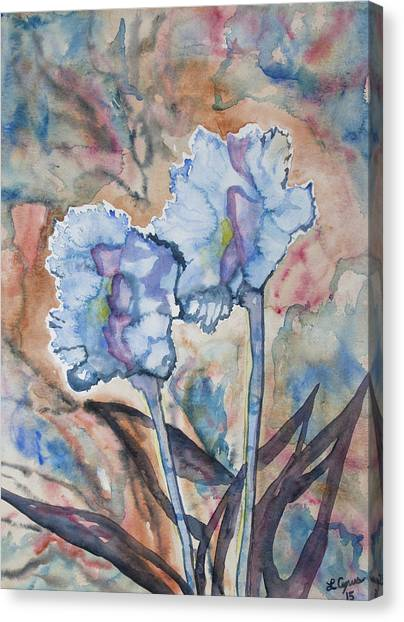 Watercolor - Orchid Impression Canvas Print
