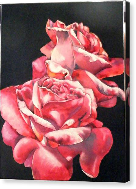 Watercolor Rose 2 Canvas Print