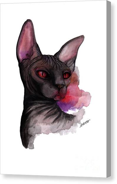 Watercolor Sphinx Canvas Print