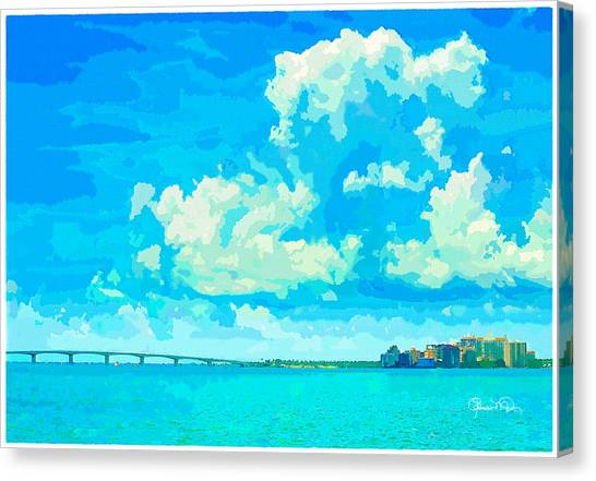 Watercolor Spring On Sarasota Bay Canvas Print