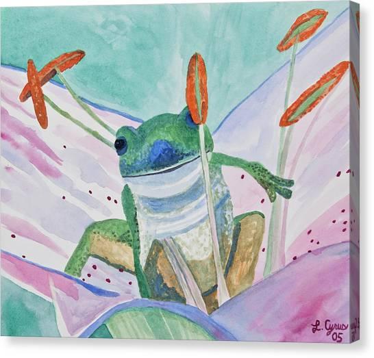 Watercolor - Tree Frog Canvas Print