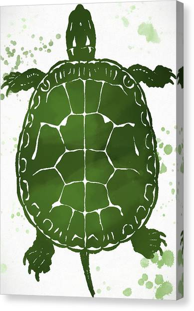 Snapping Turtles Canvas Print - Watercolor Turtle by Dan Sproul
