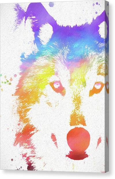 Wolves Canvas Print - Watercolor Wolf by Dan Sproul