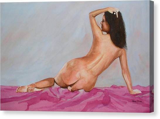 Watercolour Nude 10 Canvas Print by Steve Jones