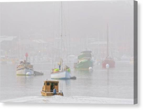 Watercraft Of Morro Bay, California Canvas Print