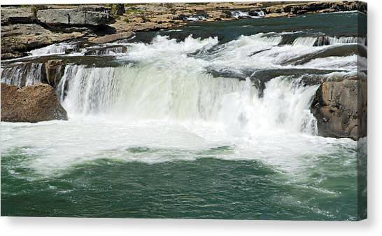 Waterfall At Ohiopyle State Park Canvas Print