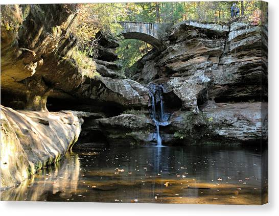 Waterfall At Old Man Cave Canvas Print