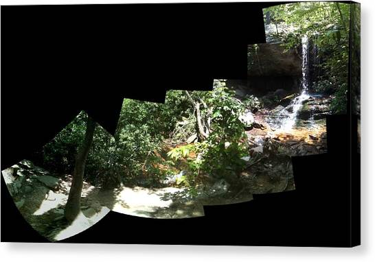 Waterfall Composition Canvas Print