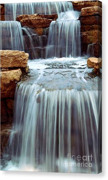 Waterfalls Canvas Print - Waterfall by Elena Elisseeva