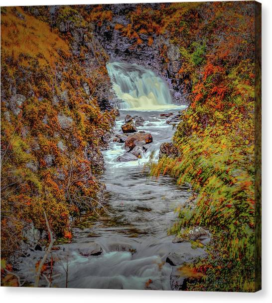 Canvas Print featuring the photograph Waterfall #g8 by Leif Sohlman