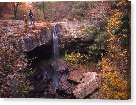 Waterfall In Fall - 1 Canvas Print by Randy Muir