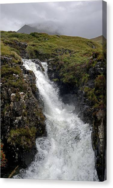 Waterfall In Isle Of Skye Canvas Print