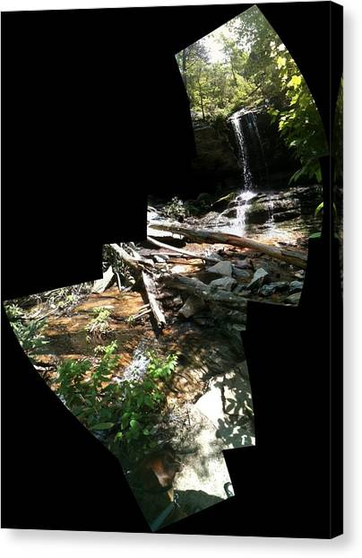 Canvas Print featuring the photograph Waterfall by John Gibbs