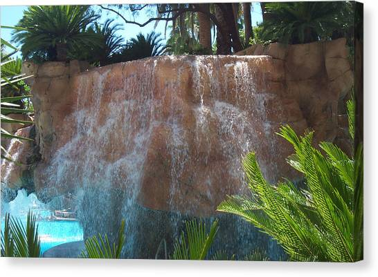 Waterfall Las Vegas Nevada Canvas Print by Alan Espasandin
