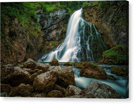 Waterfalls Canvas Print - Waterfall by Martin Podt