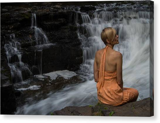 Waterfall Muse Canvas Print by Tim Beebe