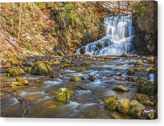 Waterfall Of April Snow Canvas Print