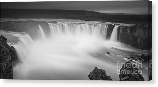 Waterfall Of The Gods Iceland Canvas Print