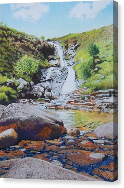 Waterfall On Skye 2 Canvas Print