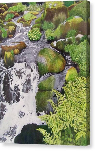 Waterfall On Skye Canvas Print