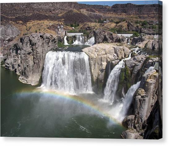 Waterfall Rainbow Canvas Print by Ty Nichols