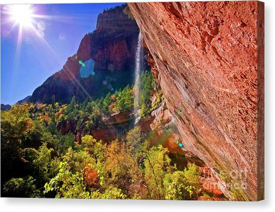 Canvas Print featuring the photograph Waterfall by Scott Kemper