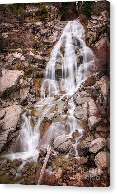 Canvas Print featuring the photograph Horsetail Falls by Spencer Baugh