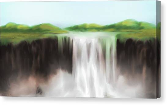 Waterfall Study 1 Canvas Print by James Leonard