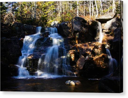 Waterfall, Whitewall Brook Canvas Print