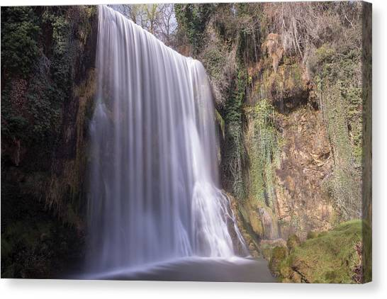 Waterfall With The Silk Effect Canvas Print
