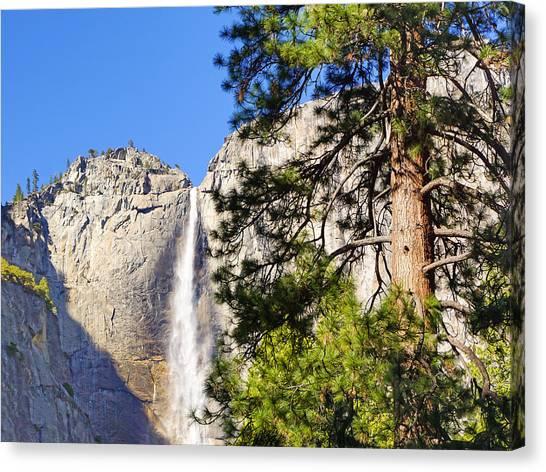 El Capitan Canvas Print - Waterfall Yosemite by Lutz Baar