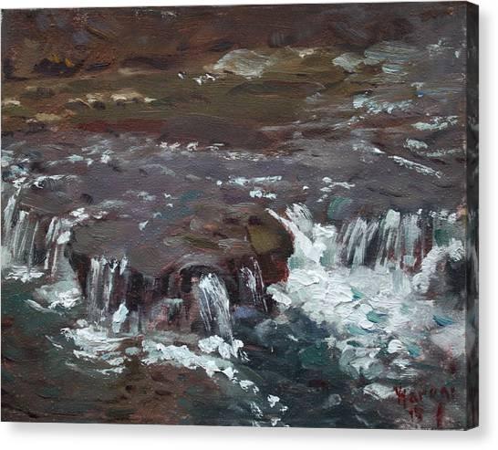 Sister Canvas Print - Waterfalls At Three Sisters Islands by Ylli Haruni