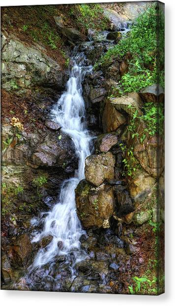 Canvas Print featuring the photograph Waterfalls by Elaine Malott