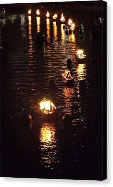 Waterfire Lights Canvas Print