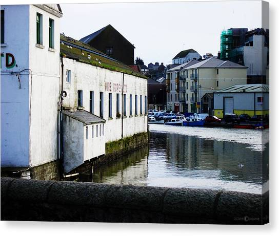 Waterfront Factory Canvas Print