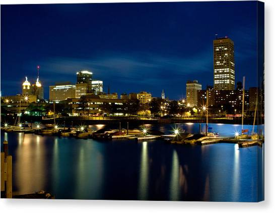 Waterfront Lights Canvas Print