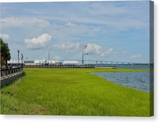 Waterfront Canvas Print - Waterfront Park Charleston by Greg Joens